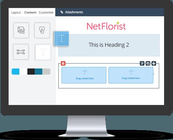Maximise Your Email Marketing   Email Marketing   Everlytic   NetFlorist Email Builder Example