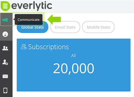 Communication Modal | Everlytic | New Feature of Everlytic