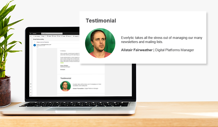 Boost Your Email Marketing with Social Proof. Here's How. | Everlytic testimonial | Email marketing | Alistair Fairweather | Mail & Guardian