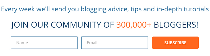 Boost Your Email Marketing with Social Proof. Here's How. | Problogger sign-up form | Crowd social proof | Everlytic