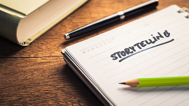 How to Use Storytelling in Email | Everlytic | Email Marketing Software | Paper and pencil | notepad