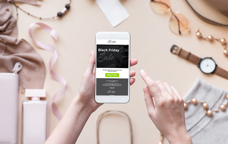 Black Friday 2020 Digital Campaign Ideas for Retail | Everlytic | eCommerce | Black Friday email | Mobile view