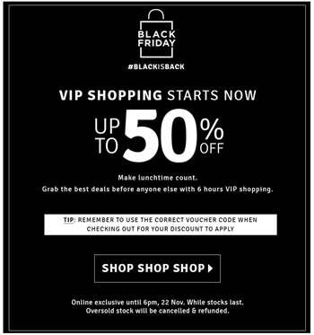 Automation Tips for Your Black Friday 2020 Comms | Retail communications | Everlytic | TFG case study