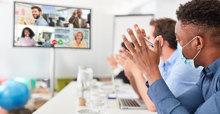 7 Tips to Create an Engaging Internal Communication Strategy | Everlytic | 2021 communication trends | Conference call